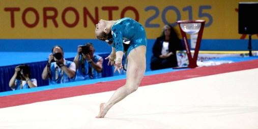 Ellie Black competes on floor