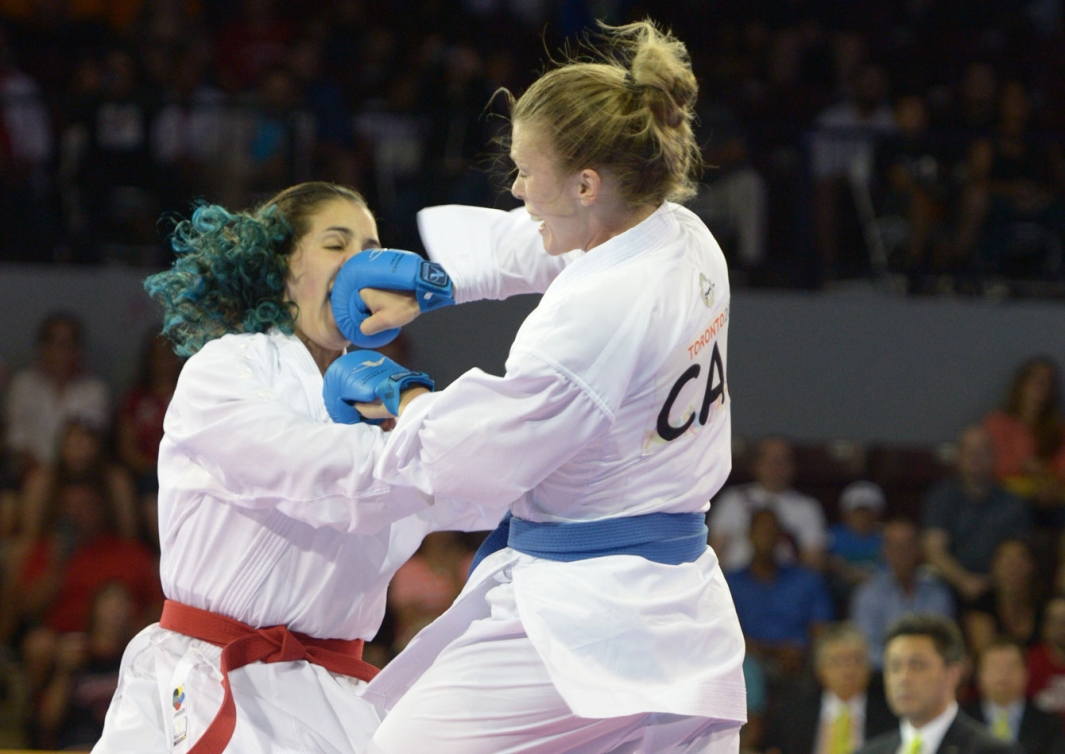 Kate Campbell won TO2015 silver in the women's -55kg category.