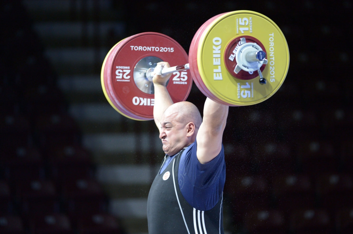 George Kobaladze lifted his way to a silver medal in the men's +105kg weight class. (Photo: Winston Chow)