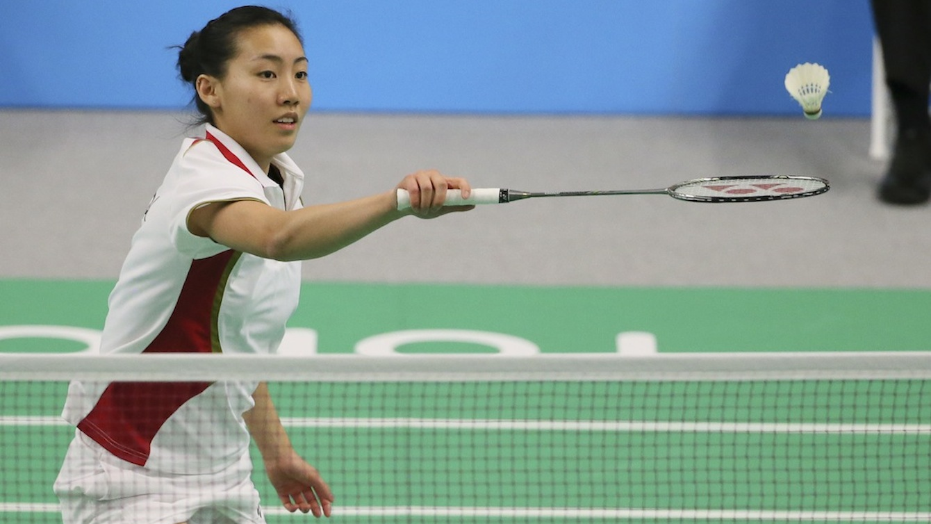 Michelle Li of Markham, Ont. was the gold medalist in badminton finals play at the PanAmerican Games in Markham, Ont. Photo by Mike Ridewood