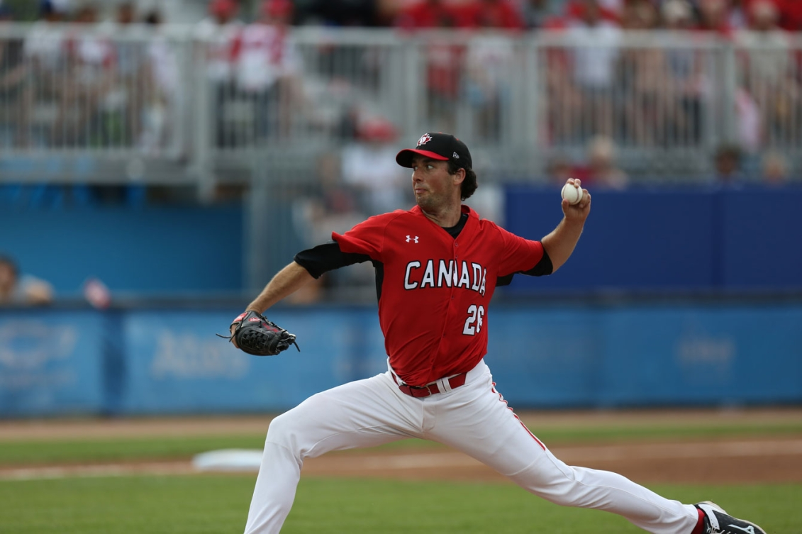 Jeff Francis started the gold medal game for Canada. (Photo: Greg Kolz)