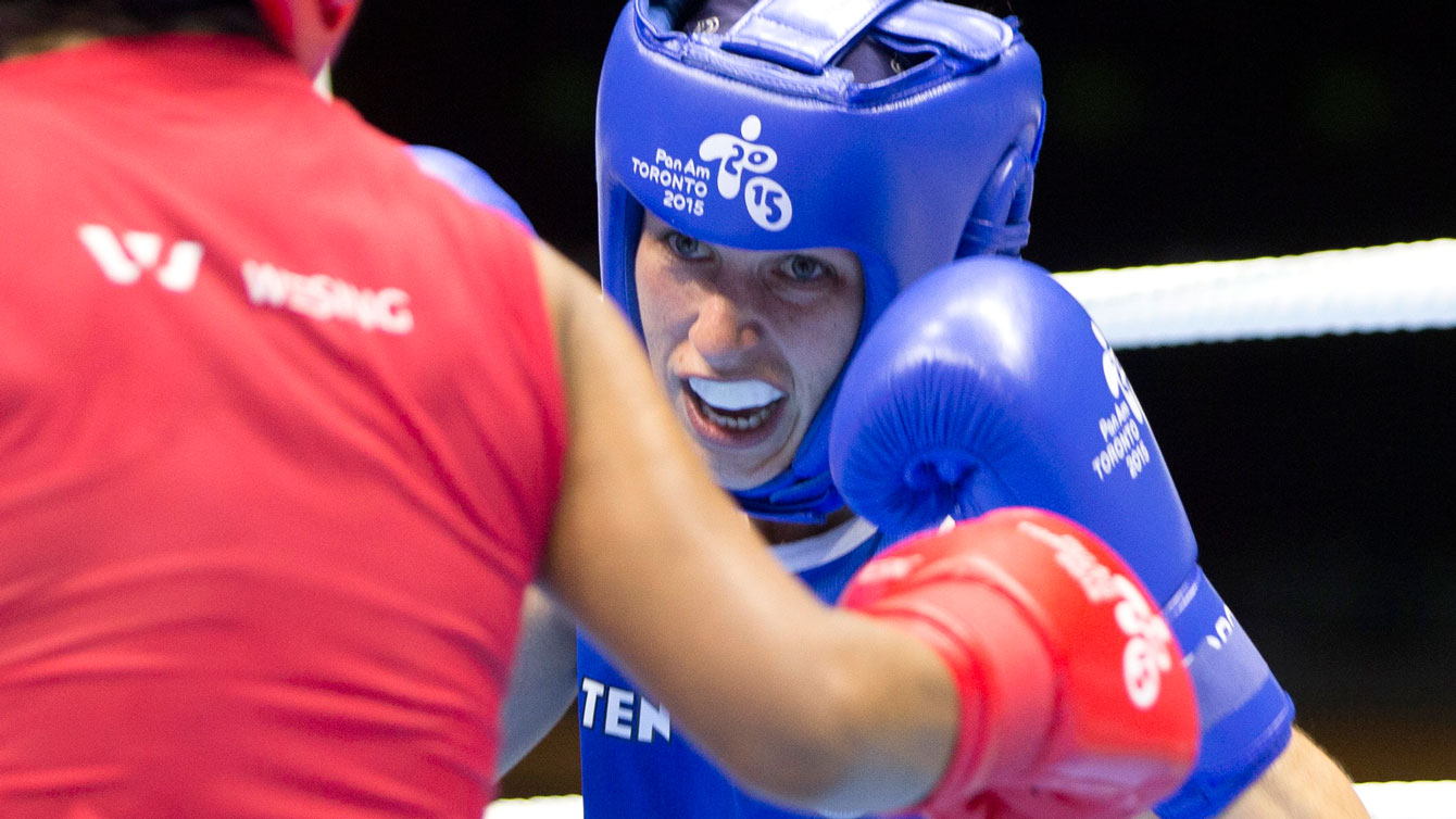 Mandy Bujold has advanced to the gold medal match in the women's fly (48-51kg) division.