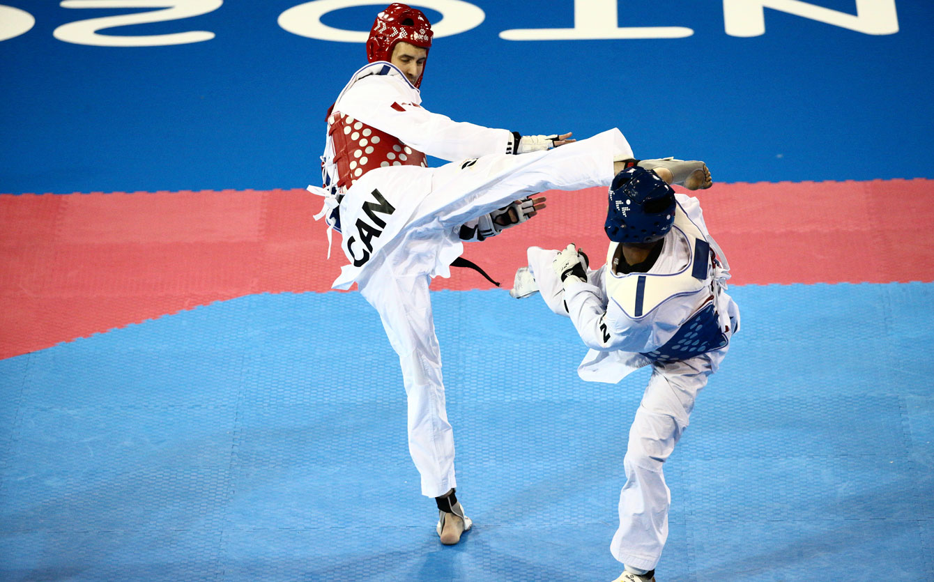 Marc-André Bergeron won TO2015 bronze in the men's +80kg division on July 22.