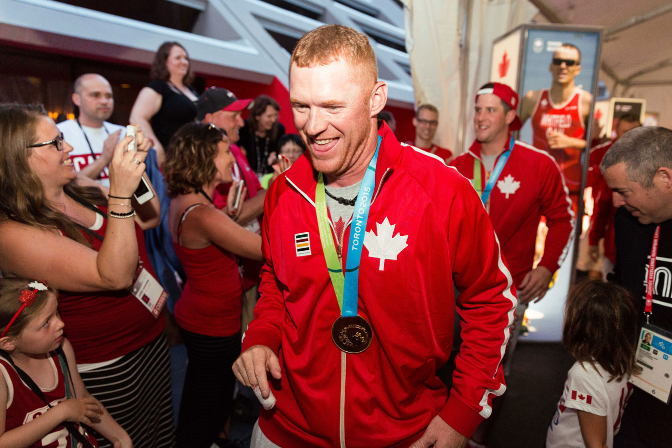 Medal celebrations at Canada House.