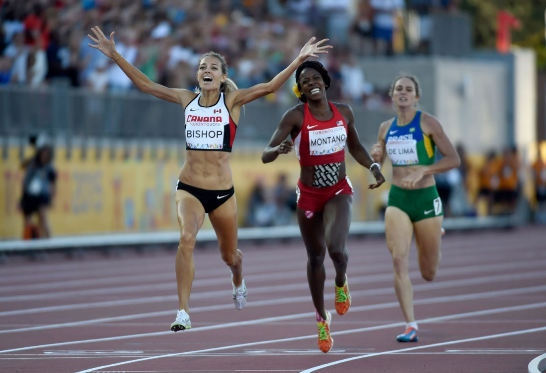 Melissa Bishop raced to gold in the women's 800m at To2015 on July 22nd.