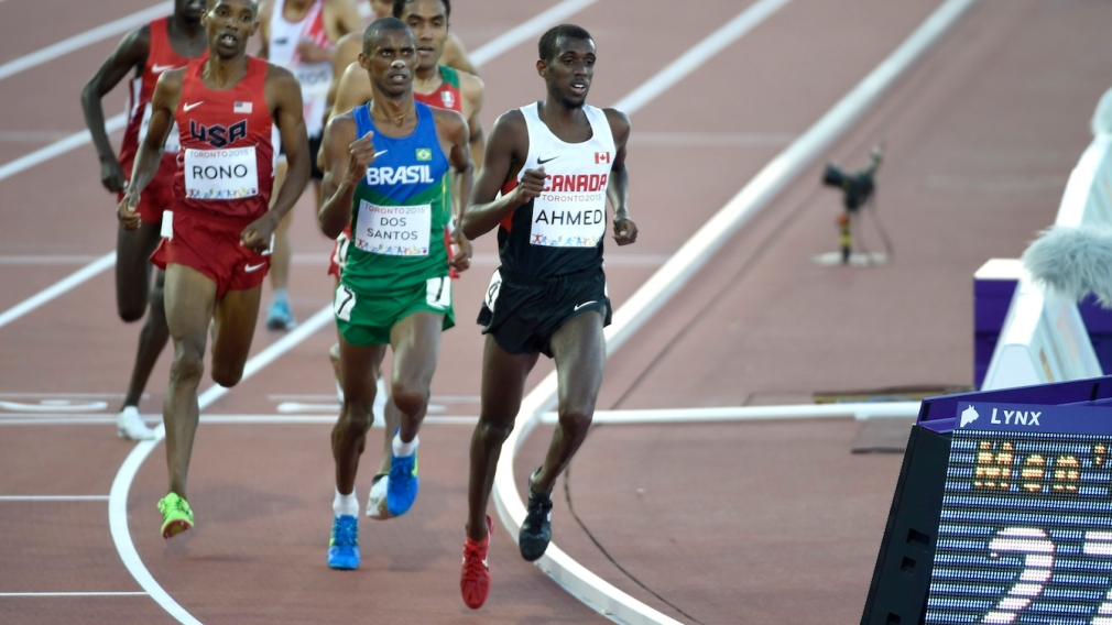 Ahmed sets record, Barber second in final Diamond League meet