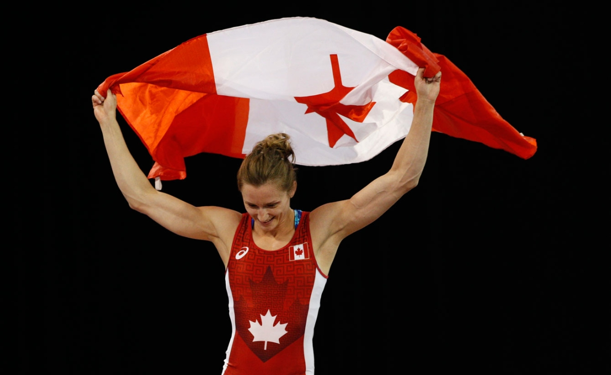 Genevieve Morrison wrestled to gold in the women's -48kg weight class. (Photo: Michael Hall)