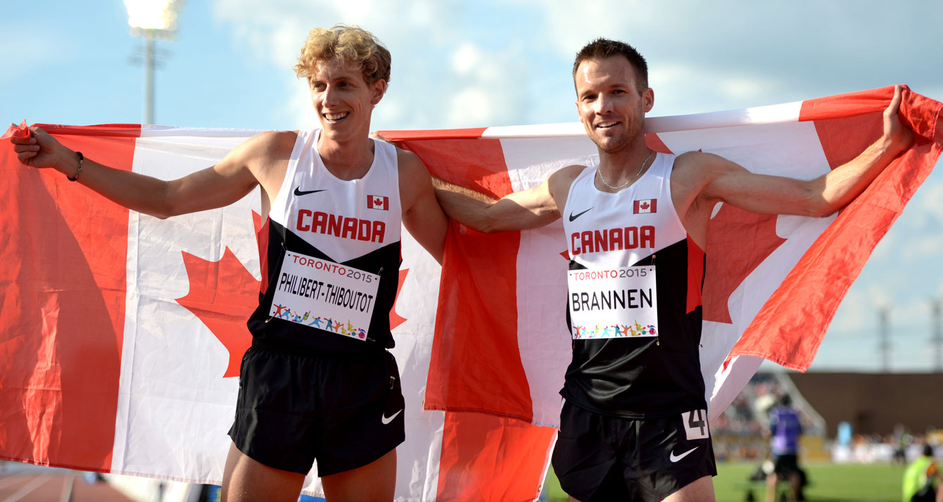 Nate Brannen and Charles Philibert-Thiboutot won silver and bronze, respectively, in the men's 1500m on Day 14 of Toronto 2015.