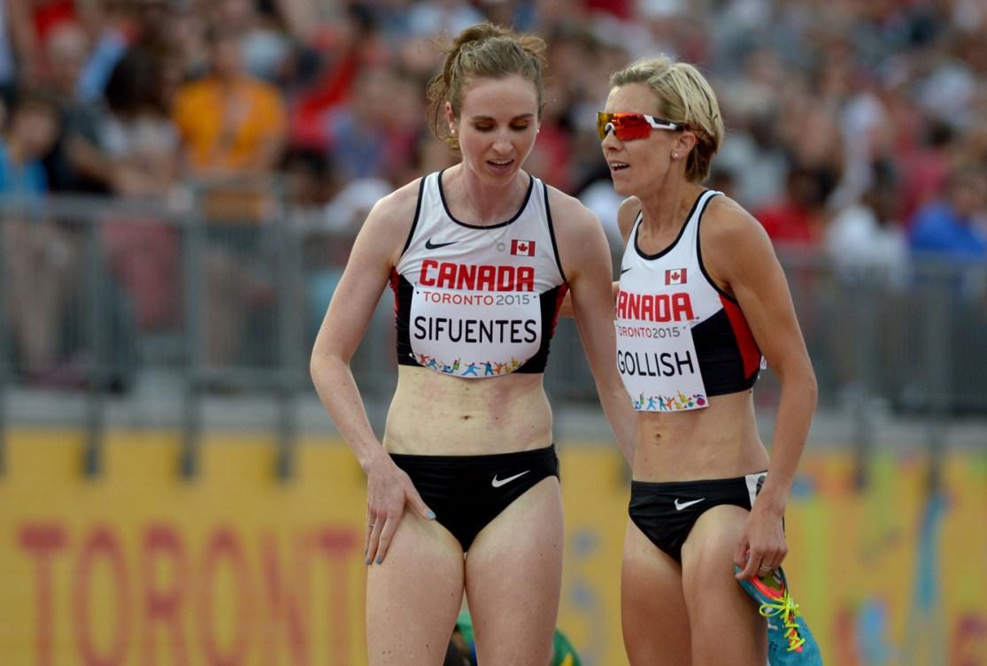 Nicole Sifuentes won silver and teammate Sasha Gollish took bronze in the women's 1500m.