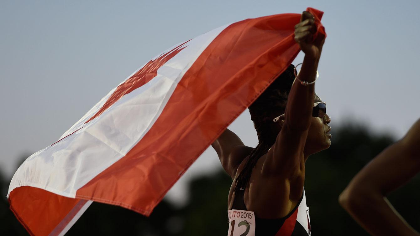Nikkita Holder won bronze in the women's 100m hurdles.