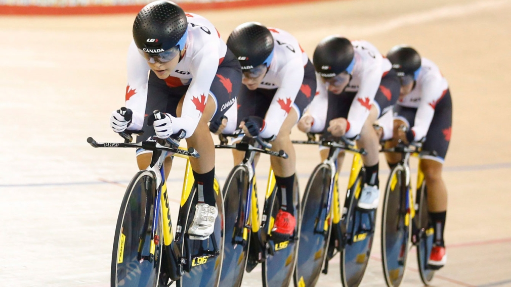 Women's team pursuit, Sullivan win Pan Am gold at TO2015