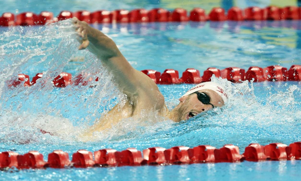 Ryan Cochrane swam to gold in the men's 400m freestyle. (Photo: Scott Grant)