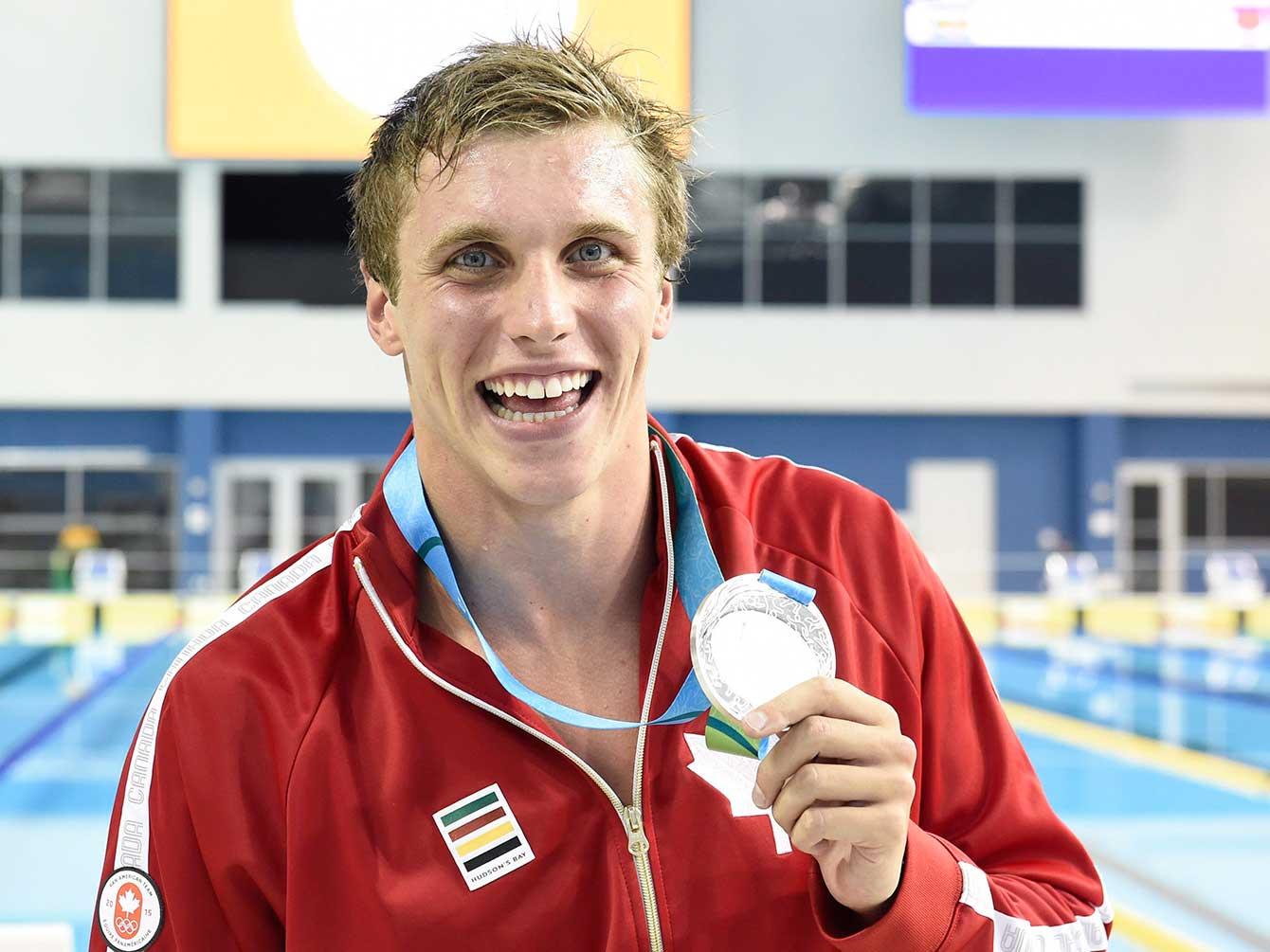 Silver medallist in the 100m freestyle Santo Condorelli.