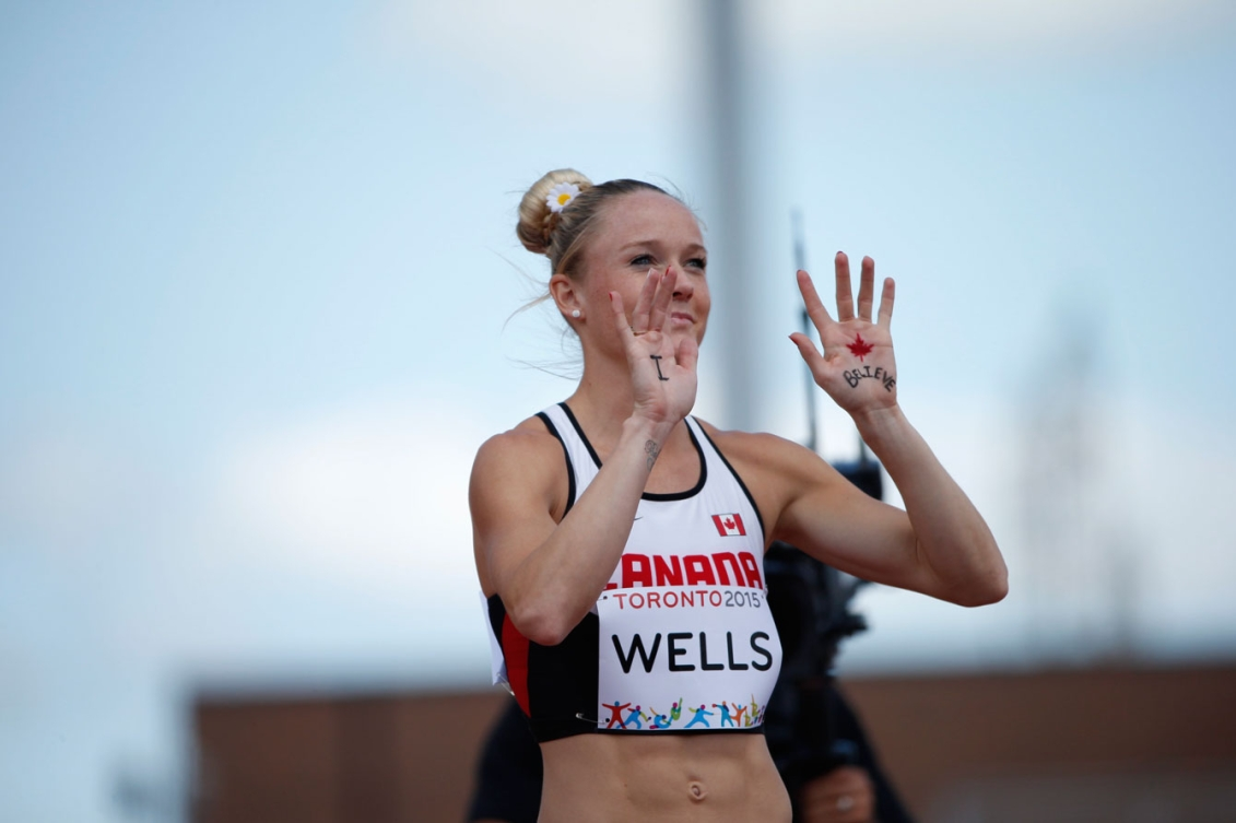 Sarah Wells took silver in the women's 400m hurdles on July 23 at Toronto 2015.
