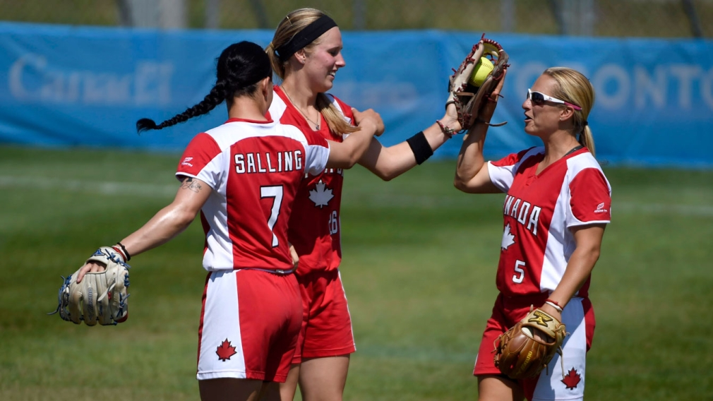Canada defeats USA for women's softball gold