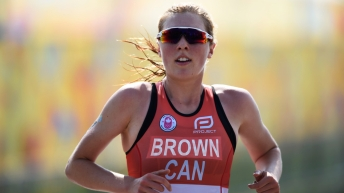 Joanna Brown during the triathlon event at Toronto 2015