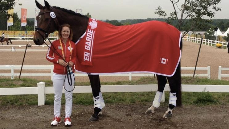 Belinda Trussell with her horse Anton (Equine Canada).
