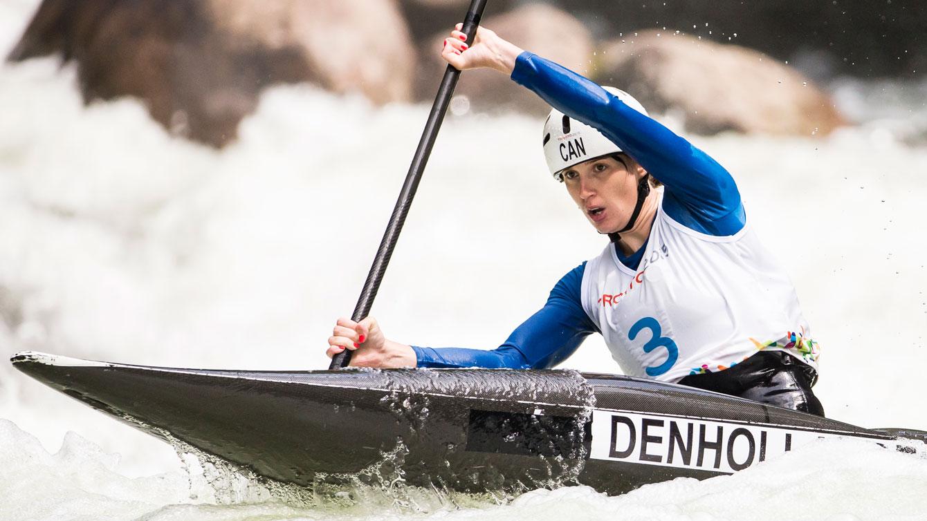 Jazmyne Denhollander won  gold in the women's K-1 slalom. (Photo: Dave Holland)