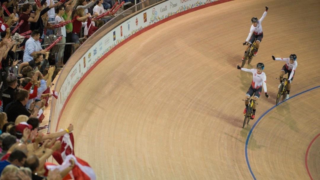 Kirsti cycling during a race