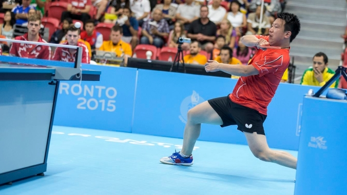 The Canadian men's table tennis team wins bronze at the 2015 Pan American Games