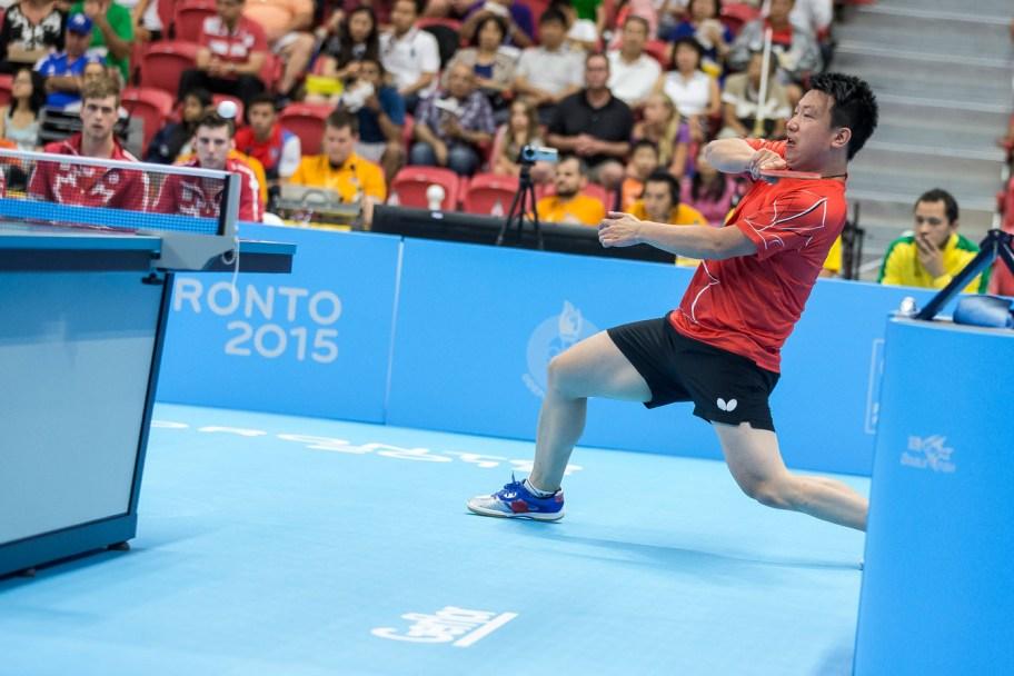 Eugene Wang competing