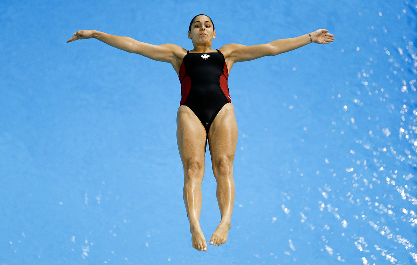 Pamela Ware during the final of the women's 3m springboard at the Toronto 2015 Pan American Games.
