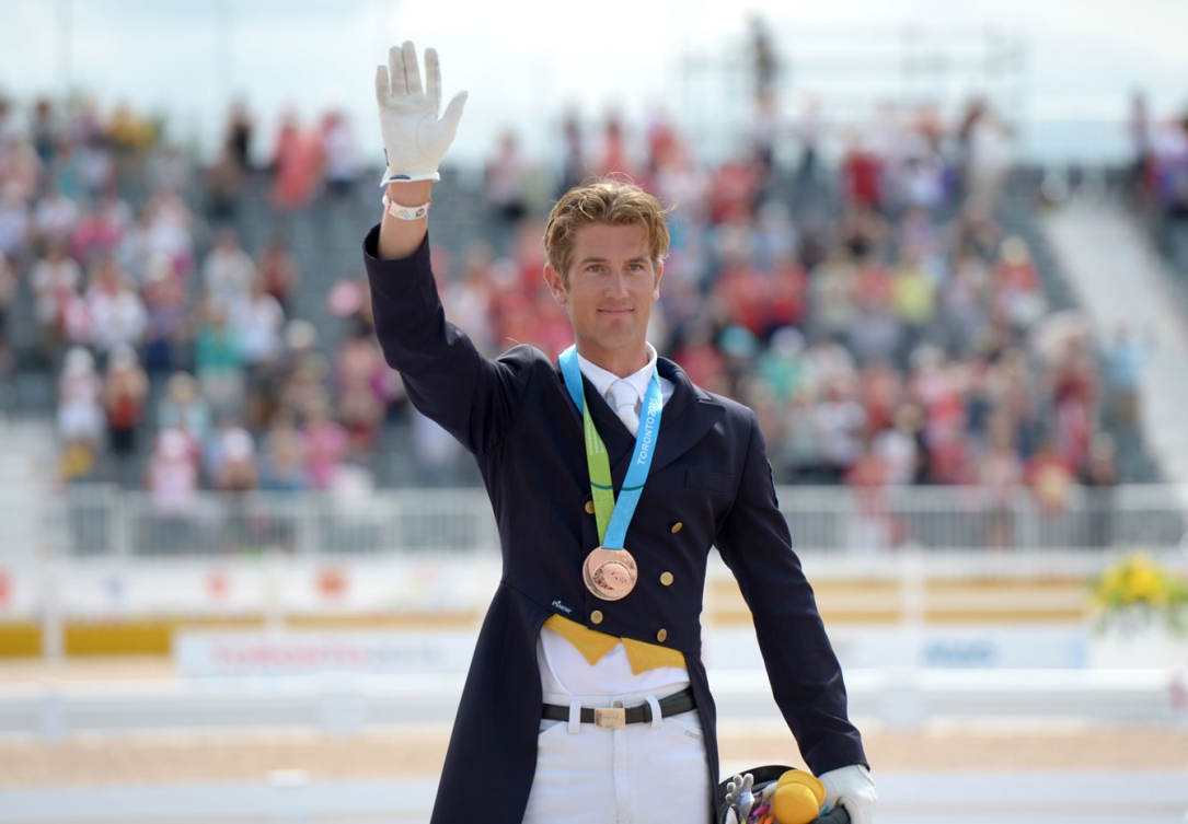 Chris von Martels rode his horse Zilverstar to a bronze in individual dressage. (Photo: Chris von Martels)