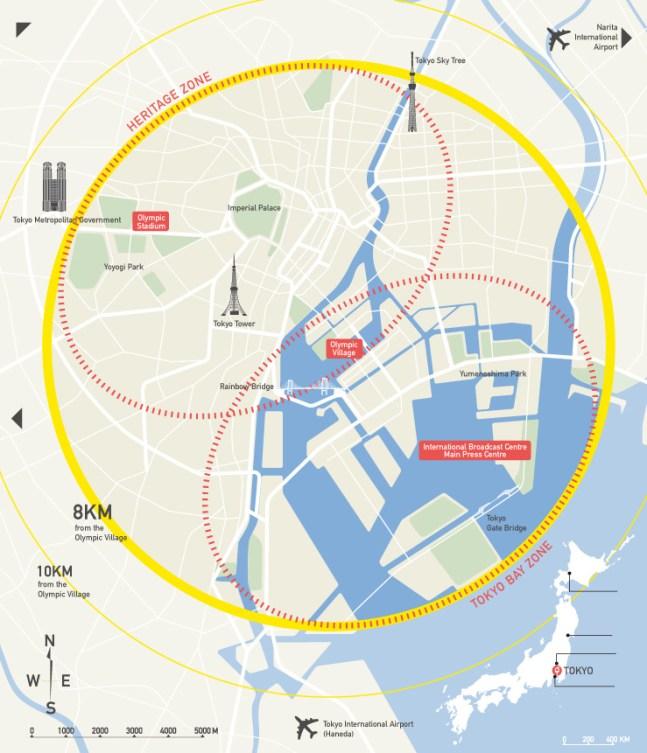 Map of Tokyo 2020 venues