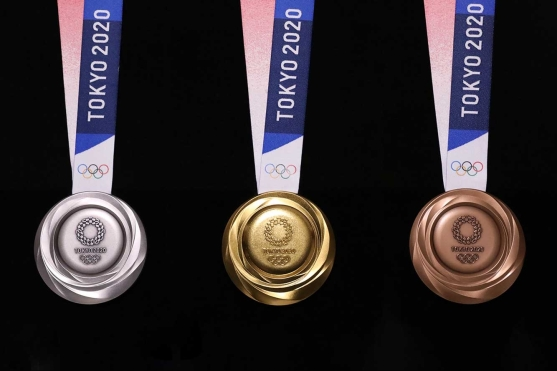 Reverse side of Tokyo 2020 medals