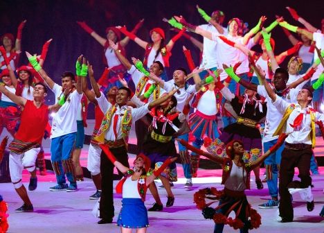 Performers during the closing ceremony of the 2015 Pan Am Games in Toronto