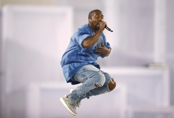 Kanye West performs during the closing ceremony of the 2015 Pan Am Games