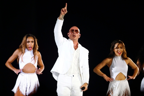 Pitbull performs during the closing ceremony at the Pan Am Games in Toronto