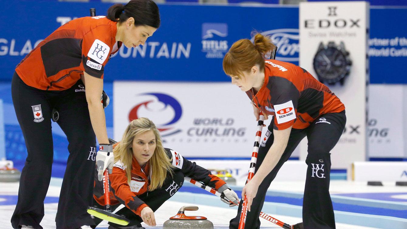 Team Jennifer Jones at the 2015 world championships.