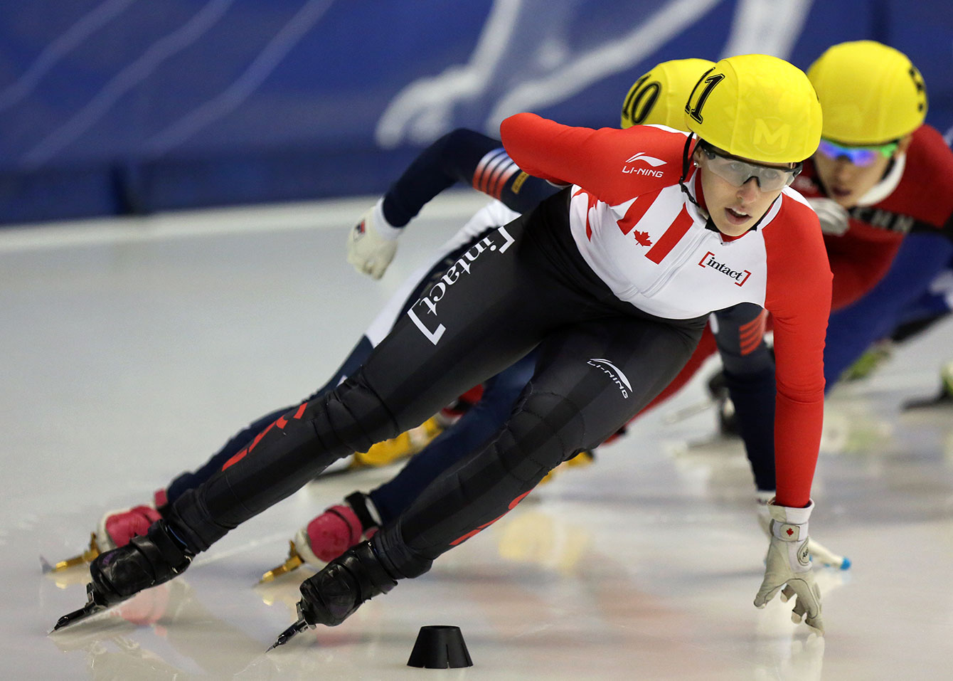 Marianne St-Gelais races on Saturday, October 31 at the season opening World Cup of 2015 in Montreal.
