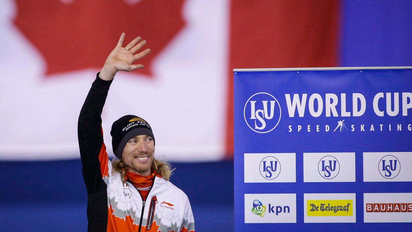 Ted-Jan Bloemen after winning World Cup bronze in men's 5000m in Calgary on November 13, 2015.