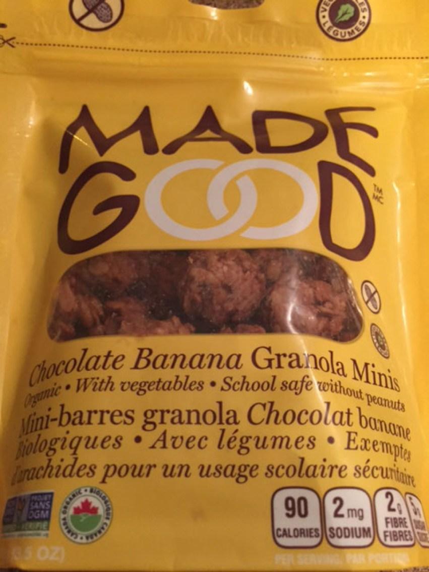 Granola bites for munching on the plane