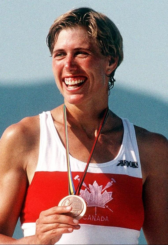 Silken Laumann after winning her Barcelona 1992 Olympic rowing bronze medal.