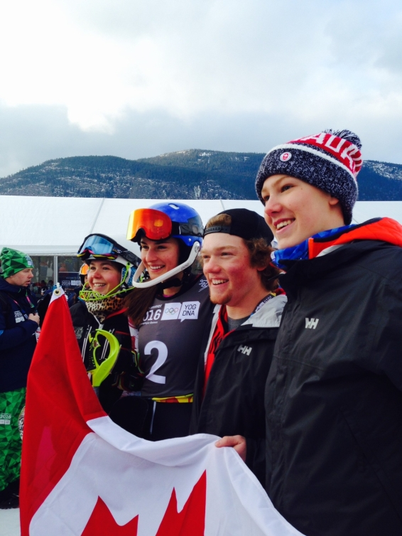 Canadian alpine skiing team at the Lillehammer 2016, Youth Olympic Games.