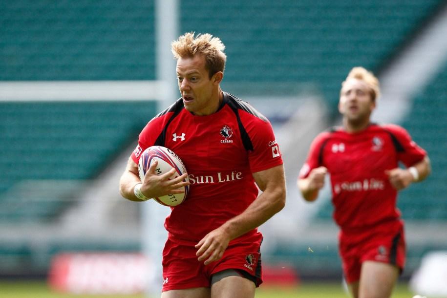 Harry Jones breaks away with ball