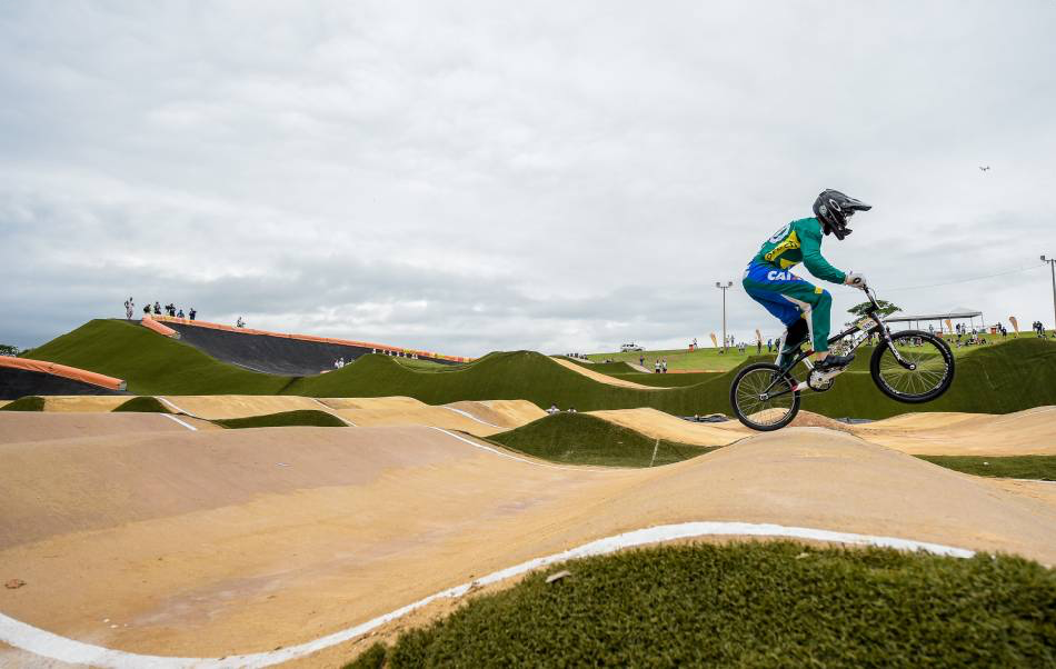 A rider during a BMX test event at X-Park. (Photo: IOC/Paulo Mumia)