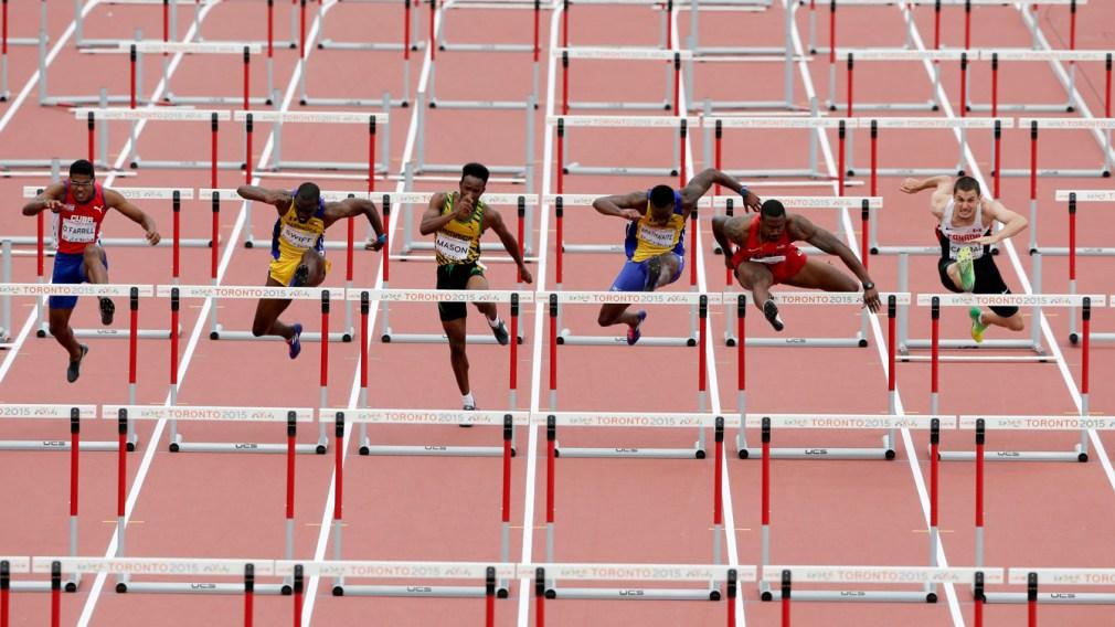 Johnathan Cabral jumping hurdles at TO 2015