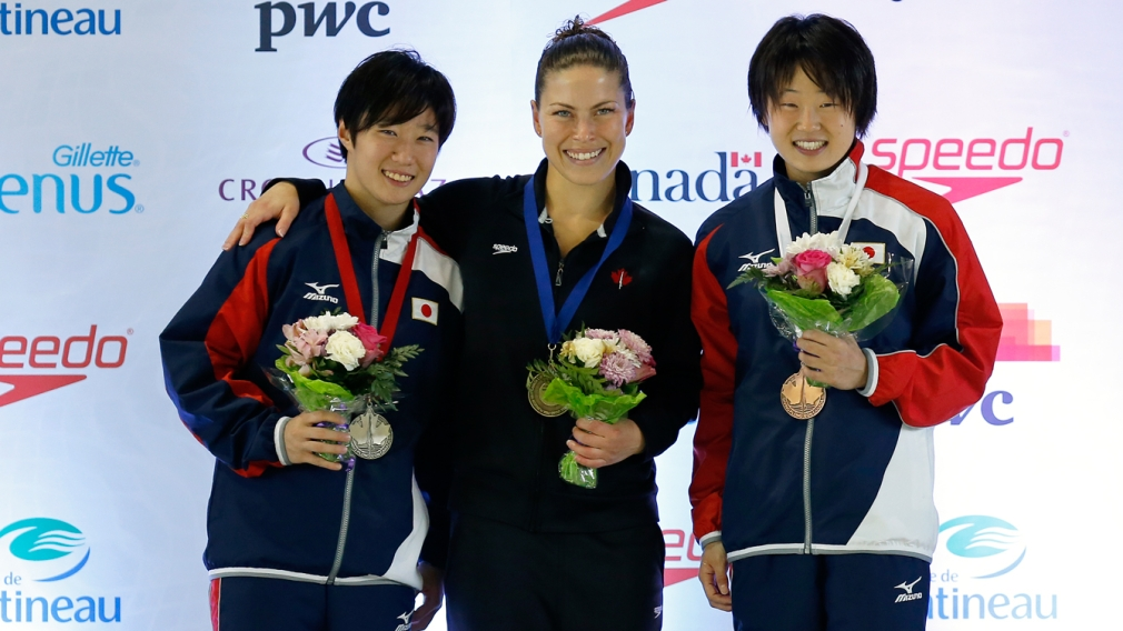 Canadian divers score eight medals at home