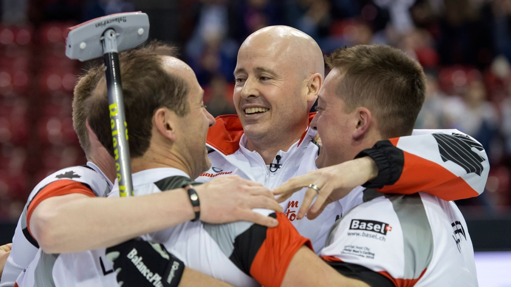 Koe skips Canada to curling world title in Switzerland