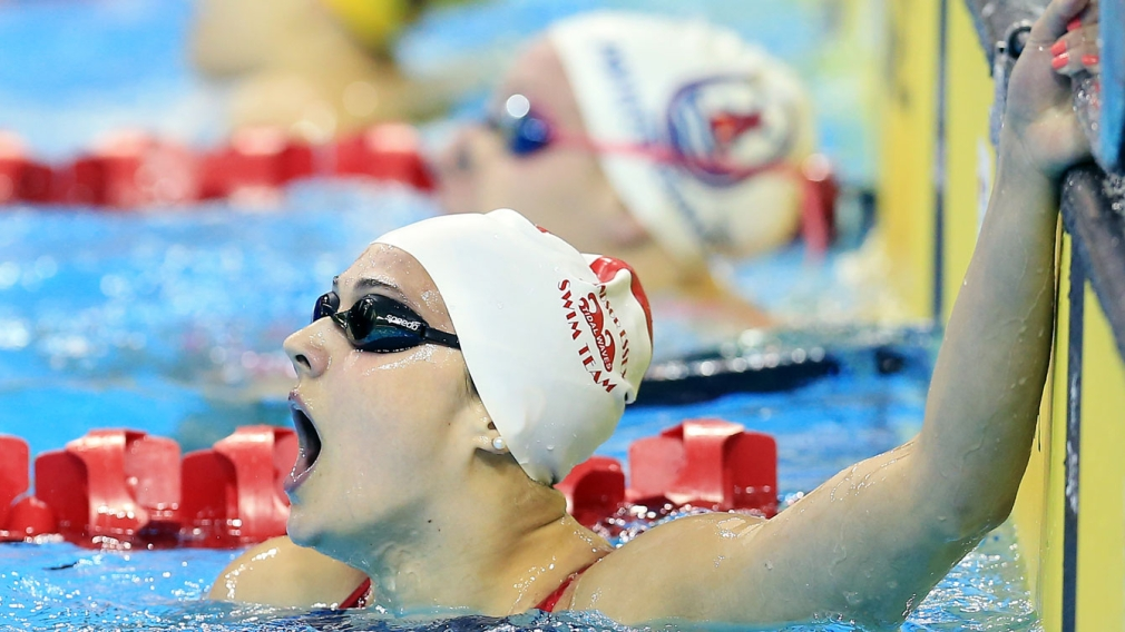 Kylie Masse in awe after setting the women's national record