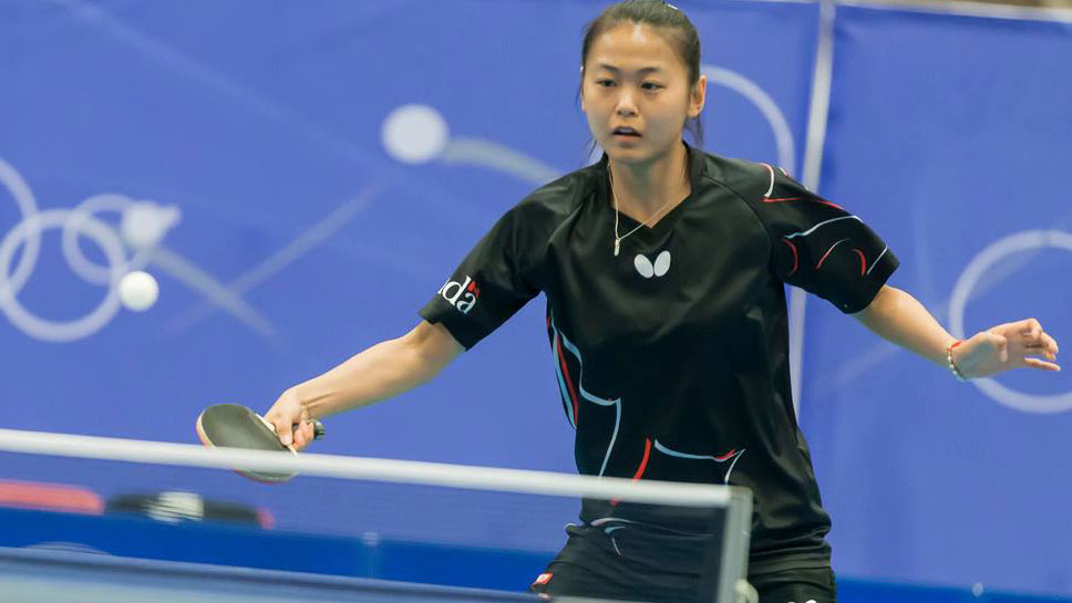 Mo Zhang at the Rio 2016 North American Olympic qualifier (Photo: Table Tennis Canada).