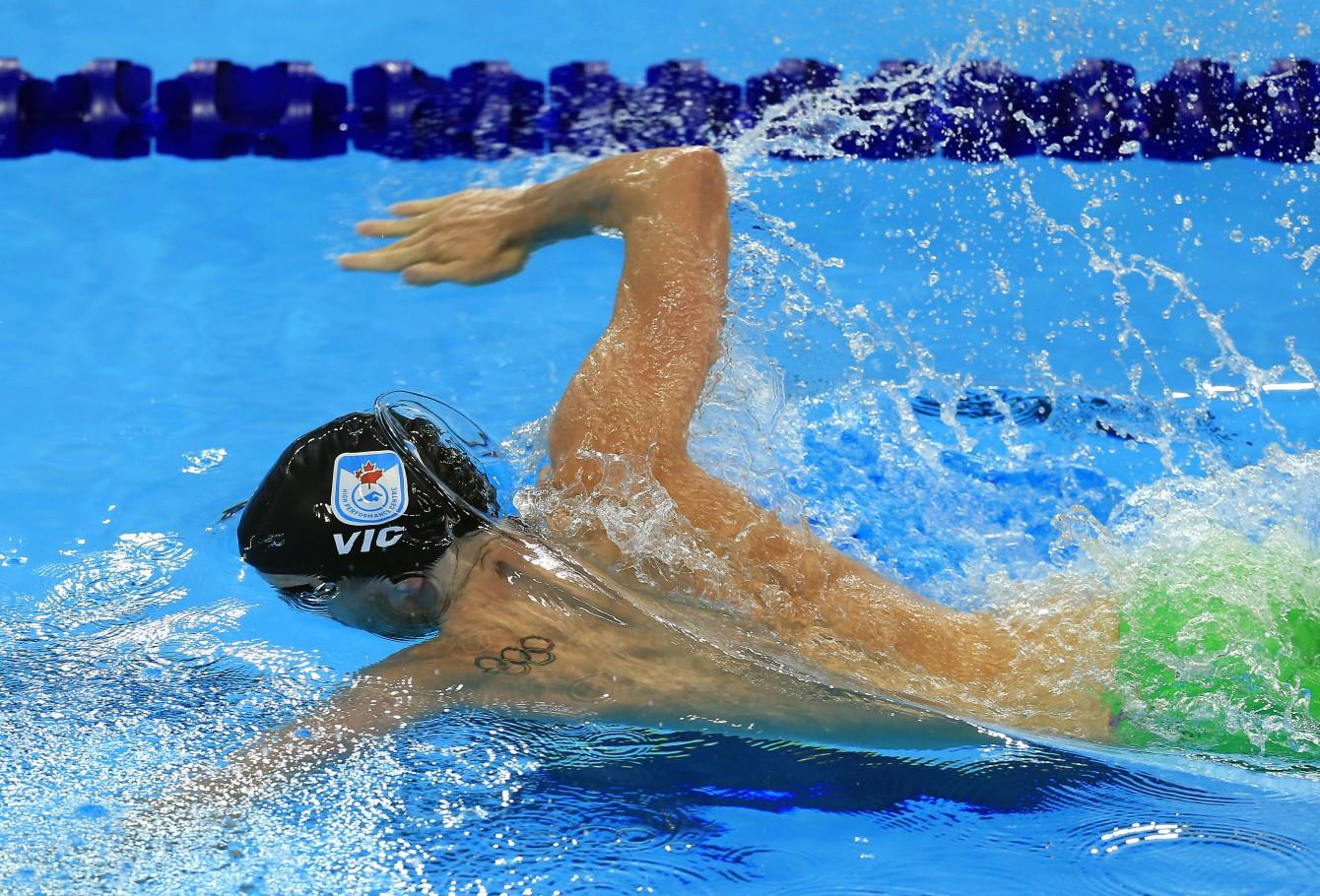 Ryan Cochrane at Olympic Trials (Photo: Vaughn Ridley)