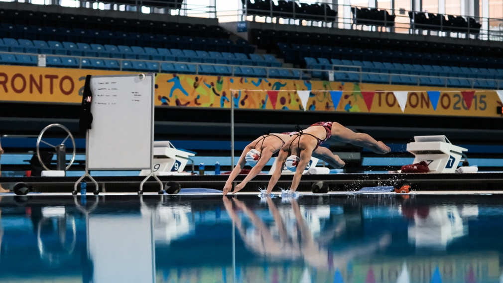 A sneak peek with Rio-bound synchro duet team of Simoneau & Thomas