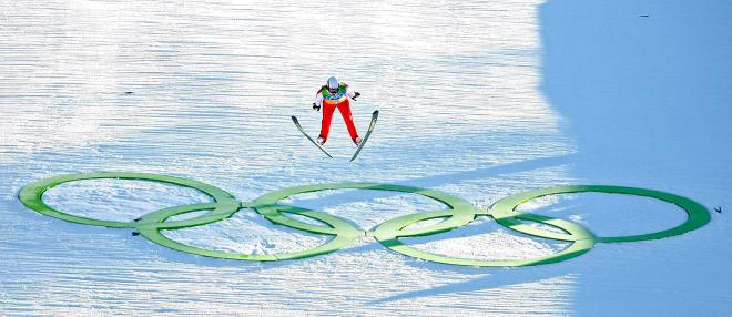 Canada's Eric Mitchell soars during the team ski jumping competition at Whistler Olympic Park at the 2010 Vancouver Olympic Winter Games in Whistler, B.C., Monday, Feb. 22, 2010. THE CANADIAN PRESS/Jeff McIntosh