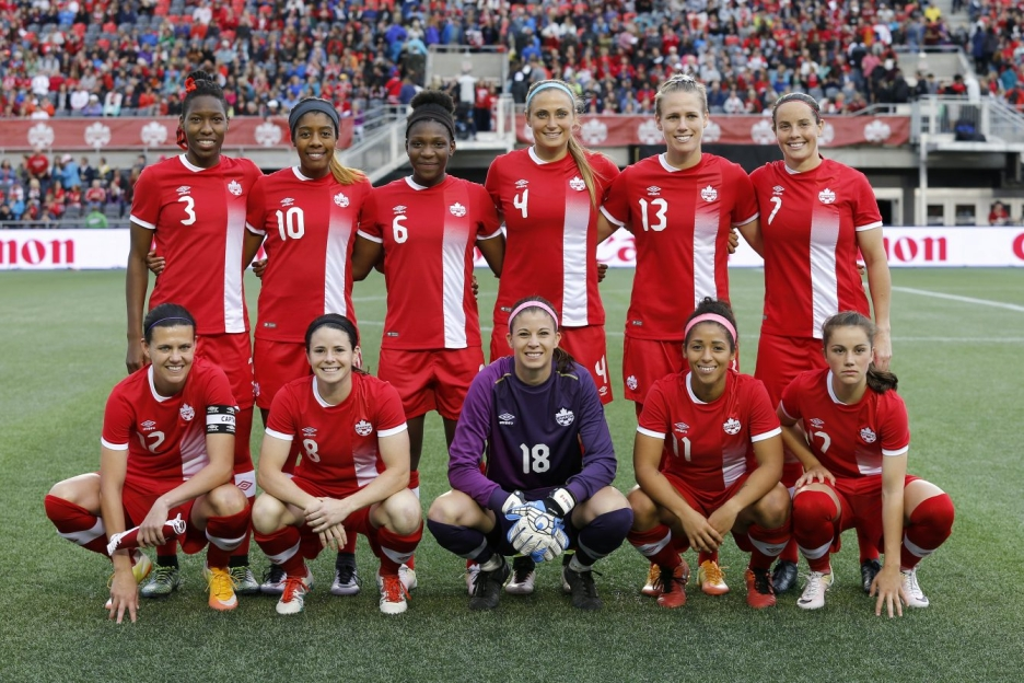 Canada's starting XI poses for a picture