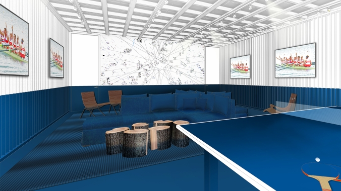 Rio 2016: Canada Olympic House rendering of the Athletes' Lounge.